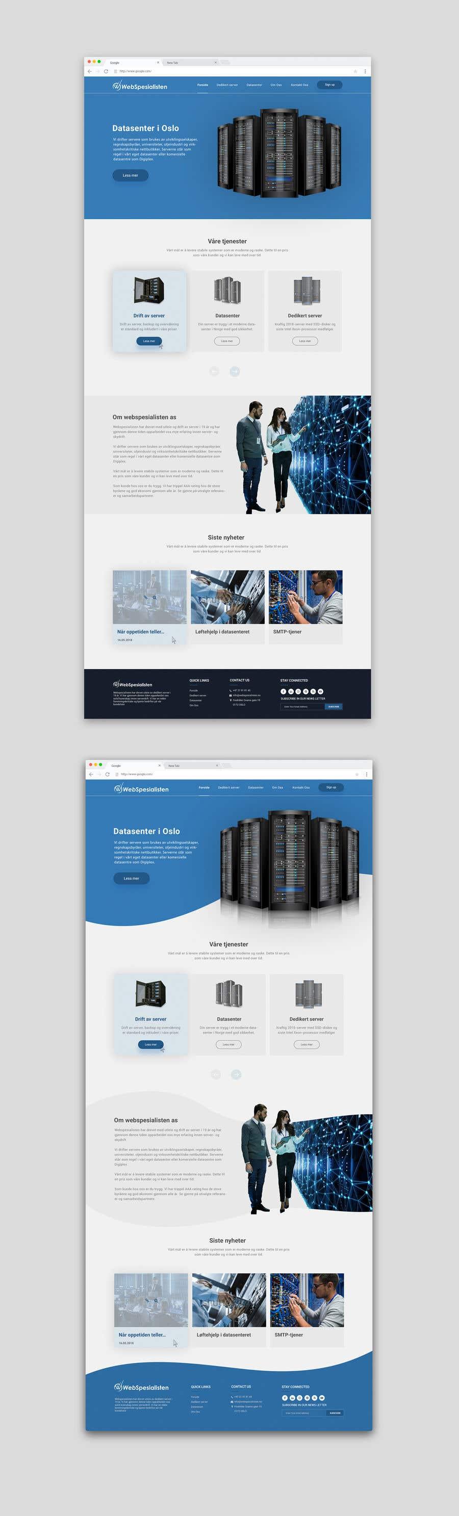Inscrição nº 109 do Concurso para Design only for hosting company - 2 pages