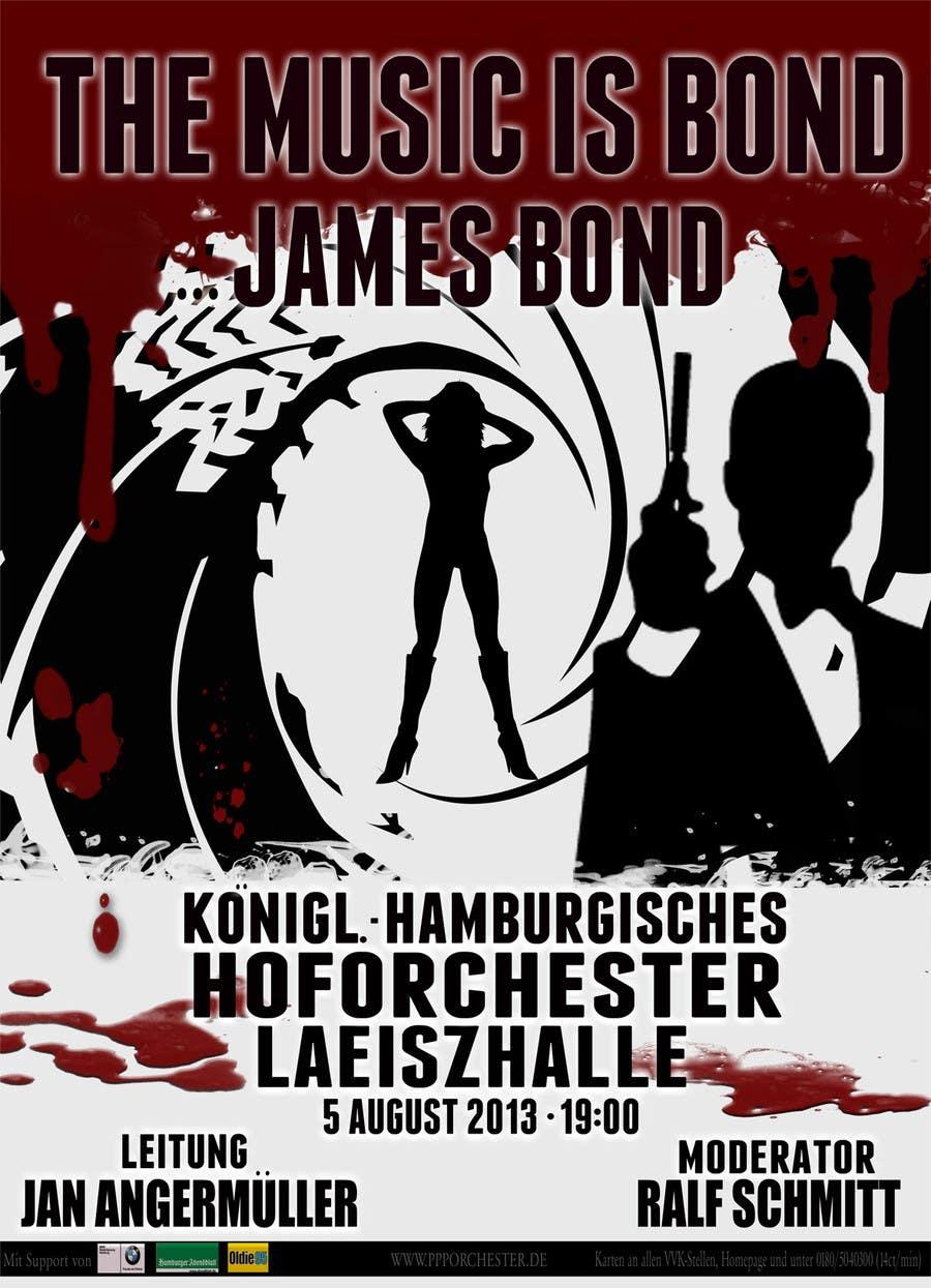Konkurrenceindlæg #                                        145                                      for                                         James Bond Poster Design for Orchestra Concert