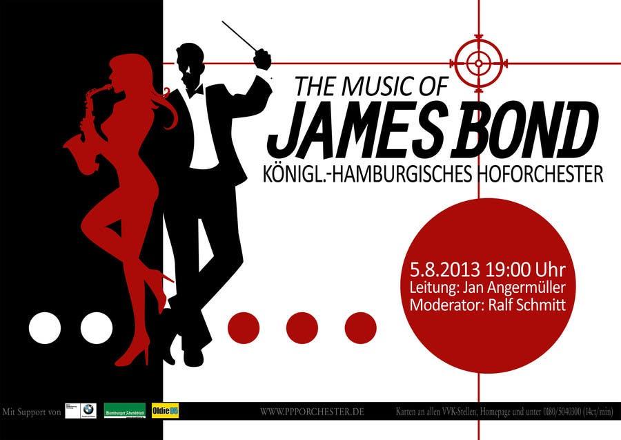 Konkurrenceindlæg #                                        109                                      for                                         James Bond Poster Design for Orchestra Concert