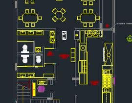 nº 13 pour To design interior interior furniture and equipments layout for a restaurant par jhosser