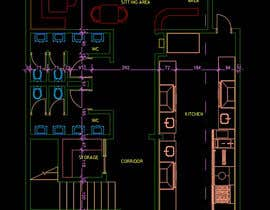 nº 27 pour To design interior interior furniture and equipments layout for a restaurant par Oweldesign