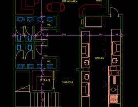 #27 untuk To design interior interior furniture and equipments layout for a restaurant oleh Oweldesign