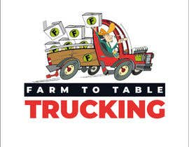 """#26 untuk Logo for """"Farm to Table Trucking"""" to be displayed on a truck and on emails to Chefs oleh josemb49"""