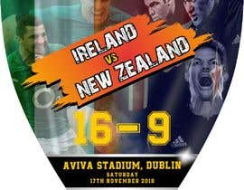 #61 для IRE vs NZ rugby competition poster от Asifsarem
