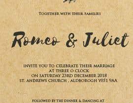 Nro 23 kilpailuun Design a rustic wedding invite template käyttäjältä Hxshxf