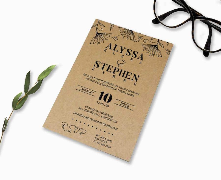Kilpailutyö #22 kilpailussa Design a rustic wedding invite template