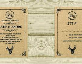 Nro 20 kilpailuun Design a rustic wedding invite template käyttäjältä xangerken