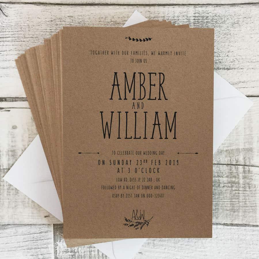 Kilpailutyö #42 kilpailussa Design a rustic wedding invite template
