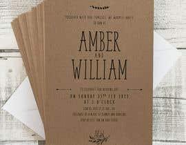 Nro 42 kilpailuun Design a rustic wedding invite template käyttäjältä deyali
