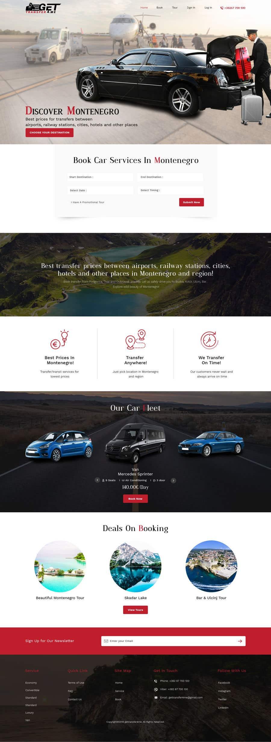 Kilpailutyö #12 kilpailussa Existing website - redesign