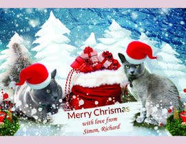 #38 untuk Digital Christmas card(s) with photos of my pet cats oleh asadulislambit
