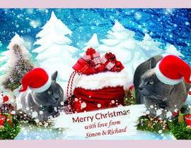 #45 untuk Digital Christmas card(s) with photos of my pet cats oleh asadulislambit