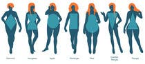 Illustration Design for female body shapes/ types için Graphic Design55 No.lu Yarışma Girdisi