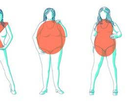 #15 para Illustration Design for female body shapes/ types por antoniopiedade