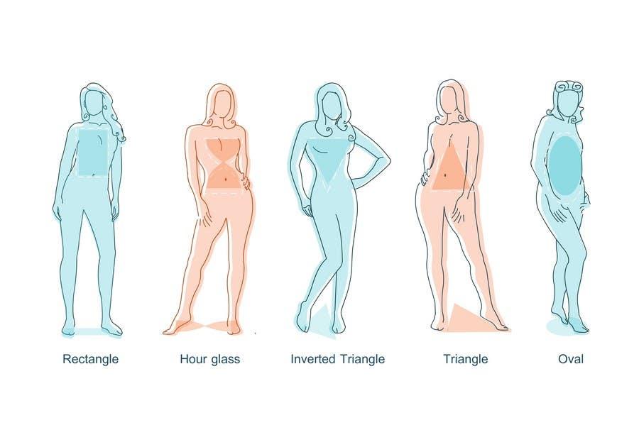 Penyertaan Peraduan #                                        16                                      untuk                                         Illustration Design for female body shapes/ types