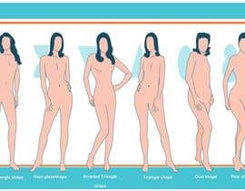 #83 para Illustration Design for female body shapes/ types de zoombiemode