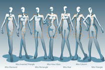Illustration Design for female body shapes/ types için Graphic Design59 No.lu Yarışma Girdisi