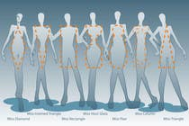 Illustration Design for female body shapes/ types için Graphic Design58 No.lu Yarışma Girdisi