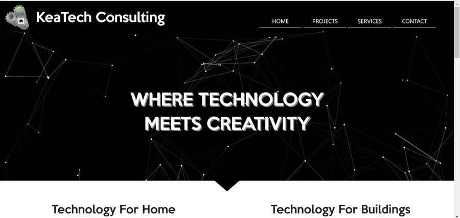 "Intrarea #12 pentru concursul ""Design smooth, elegant, luxurious, classy, sleek, BUT SIMPLE website for cutting edge technology consulting services. High tech, custom and special systems, futuristic technology company."""