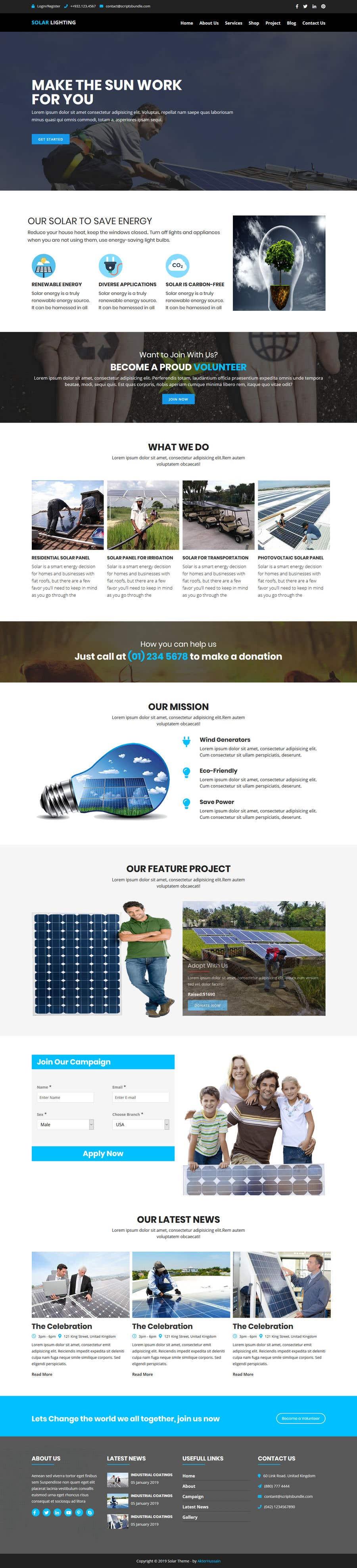 Penyertaan Peraduan #47 untuk wordpress theme design for battery and lighting subject