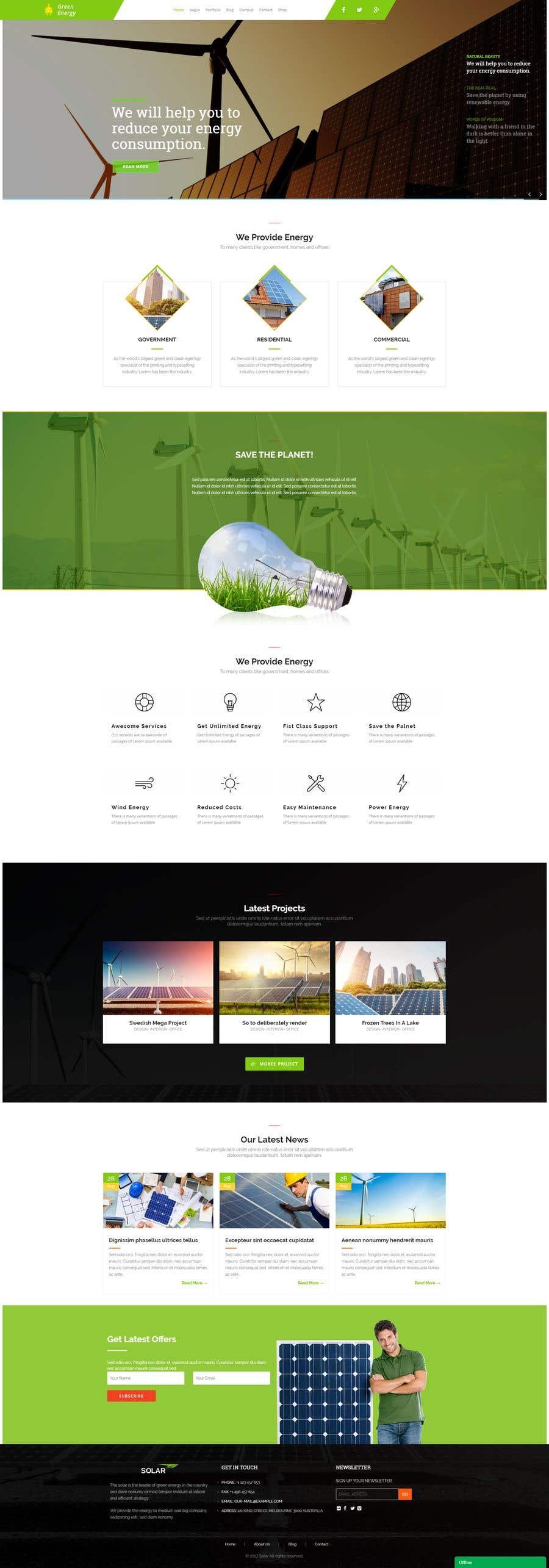 Penyertaan Peraduan #37 untuk wordpress theme design for battery and lighting subject