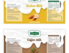 #34 for Design a label for  bottled milk juices by anshalahmed17