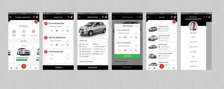 we need an android and ios app for our car rental company