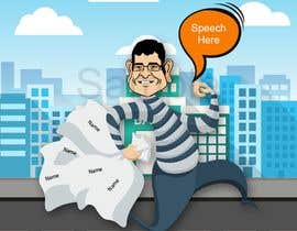 #8 для cartoon  image of thief wearing eyemask with many bags on his shoulder от anasmunir88