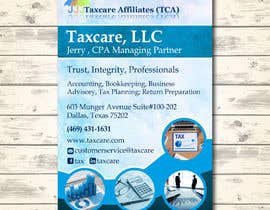 #8 для design double sided flyer - taxcare от andreschacon218