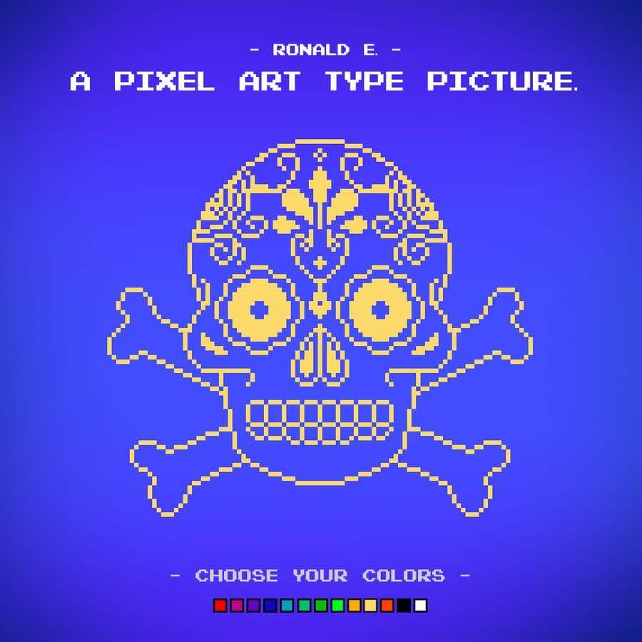 Penyertaan Peraduan #104 untuk A pixel art type picture