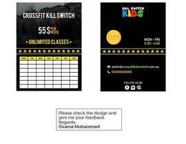 Nro 9 kilpailuun build me a advertising sticker for a gym window käyttäjältä iOsamaMuhammed