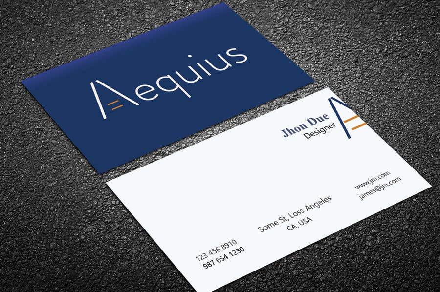 Penyertaan Peraduan #542 untuk Business Card Design