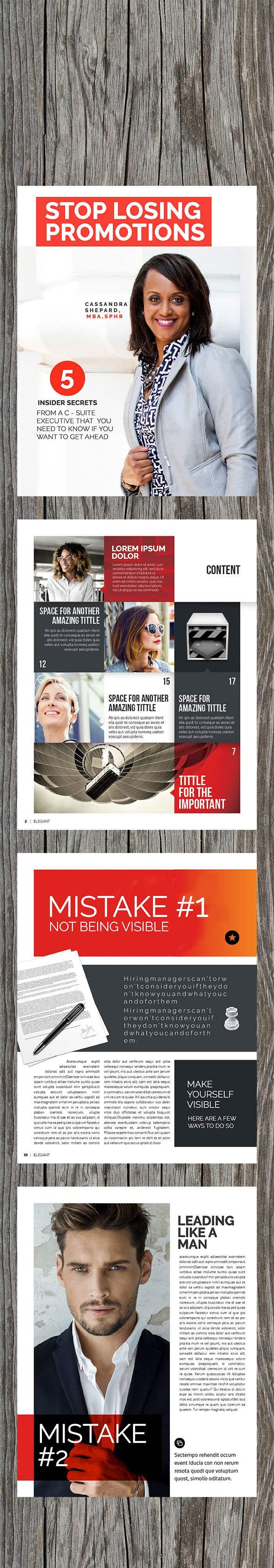 Penyertaan Peraduan #22 untuk Redesign A Report for Stylish Corporate Women