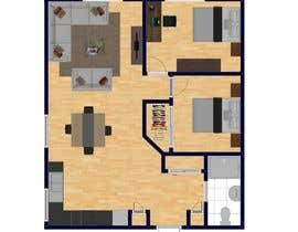 Tmachael님에 의한 Design a layout of a two bedroom flat, including furniture.을(를) 위한 #17