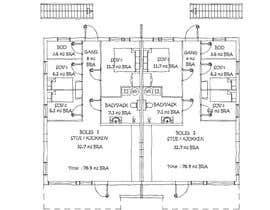 #4 для Make floor-plan handwritten/ architect style от aliwafaafif