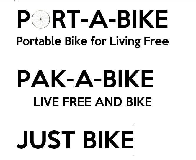 Inscrição nº                                         87                                      do Concurso para                                         folding bike brandname
