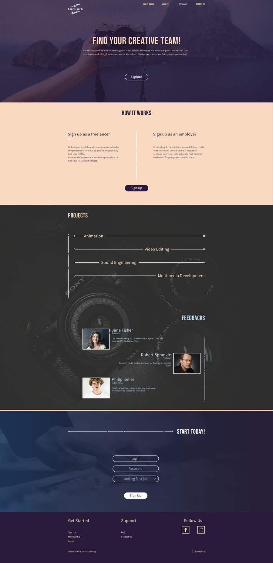 """Intrarea #4 pentru concursul """"Designs for Media and Entertainment Website"""""""