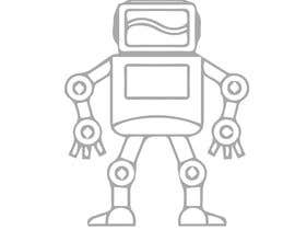 #39 for Design a simple robot icon (grey lines, 16x16px, 48x48px and 128x128) by Ariful222