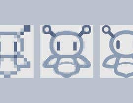 #33 for Design a simple robot icon (grey lines, 16x16px, 48x48px and 128x128) by ReffSQ