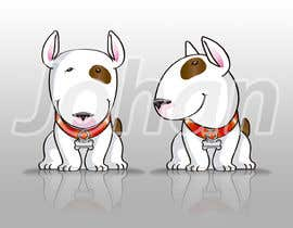 #21 for Bull Terrier Cartoon Caracter af JohanGart22