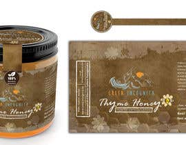 #93 для Design a minimalistic and playful product label for a natural thyme honey jar. от imtiazmaruf34