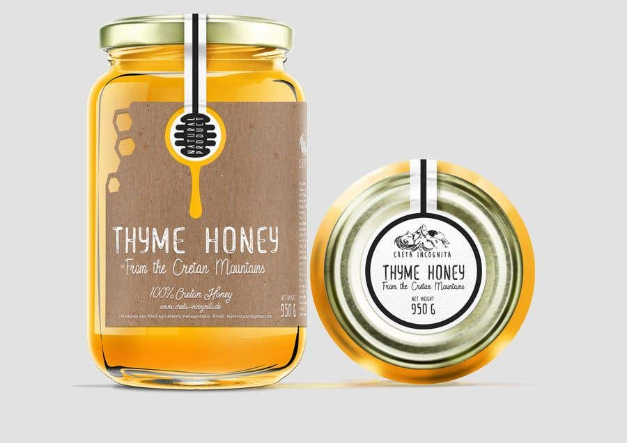 Entry 88 By Sbihamiri For Design A Minimalistic And Playful Product Label For A Natural Thyme Honey Jar Freelancer