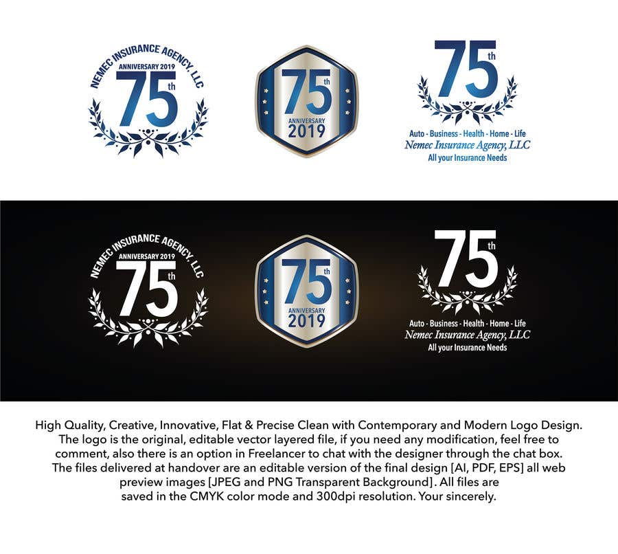 Contest Entry #19 for Revamped Logo Design - Celebrating our 75th Anniversary