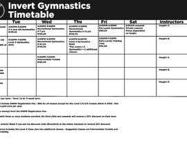Nro 11 kilpailuun Design a timetable käyttäjältä IamChrisss