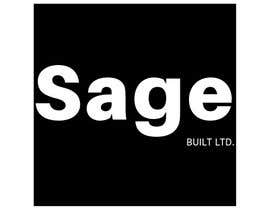 #22 для I need a Logo for my new company Sage Built Ltd. I really like the old retro Esso logo attached. I would like outside red perimeter to be dark forest green , with black cursive font in lieu of navy. The person with the best logo design wins, Good luck! от aleksaantic