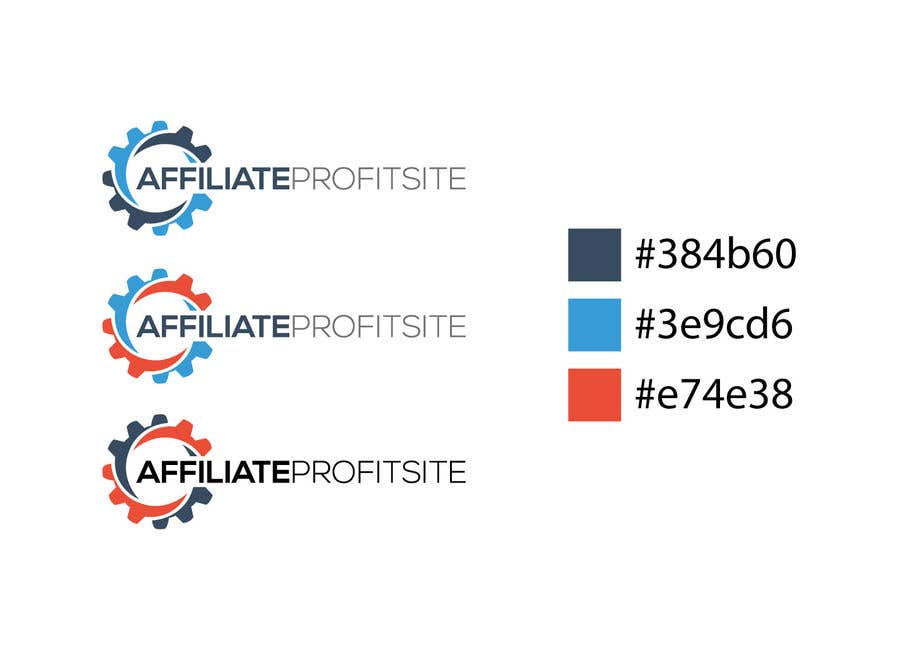 """Intrarea #430 pentru concursul """"I'm putting together a site called: affiliateprofitsite. I would like a logo similar to the examples attached. I want it easy to read, clean, modern and the color scheme should consist of blue, orange, black and white or the Clickfunnels colors lol."""""""
