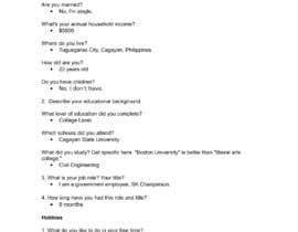 Pariparo tarafından Survey real answers, from real people. 100% honest please için no 6
