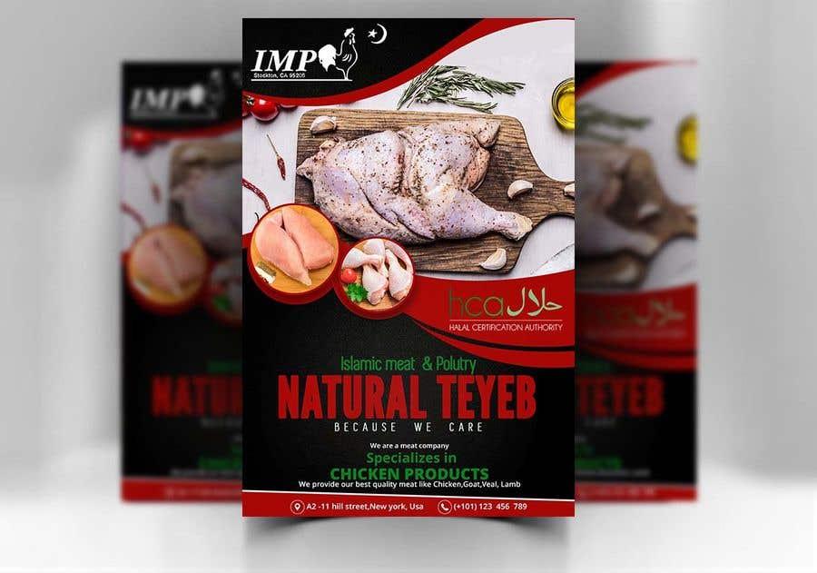 Kilpailutyö #34 kilpailussa Create a poster advertising chicken meat