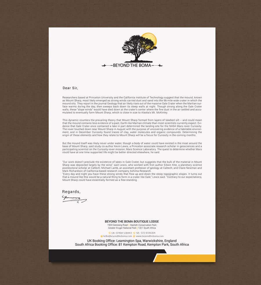 Kilpailutyö #47 kilpailussa Letterhead design