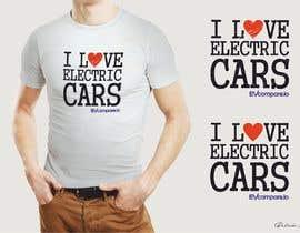 nº 17 pour Create a funny sticker/t-shirt/mug design promoting electric cars par RetroJunkie71